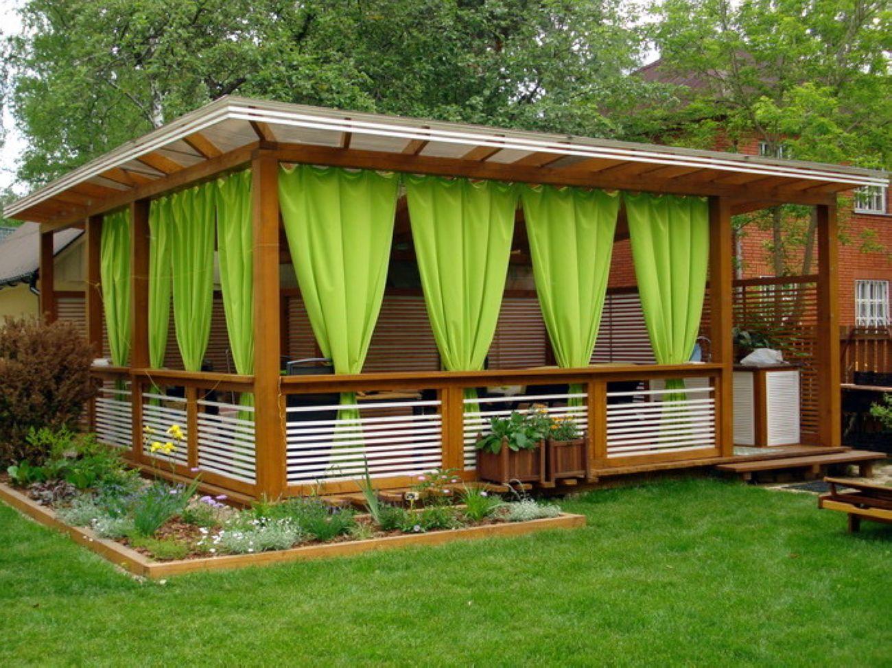 Садовый павильон из дерева своими руками