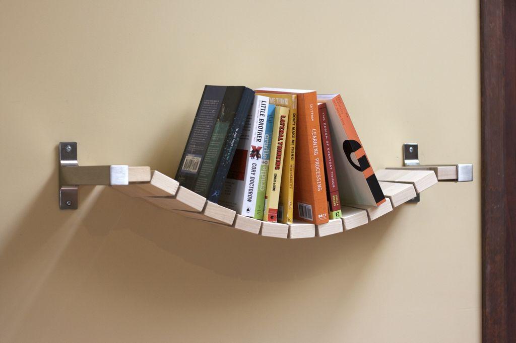 Полка из книг своими руками фото